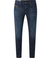 diesel d-strukt slim fit jeans met medium wassing blauw