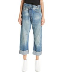 women's r13 crossover jeans, size 25 - blue