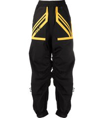 dsquared2 1964 ruched track pants - black