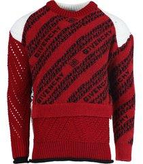 red plaid print sweater