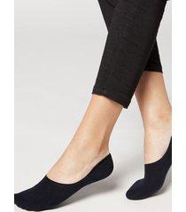calzedonia unisex cotton invisible socks woman blue size 46-47