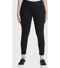 jeans pitillo con apliciones negro curvi