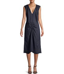 ruched front shift dress