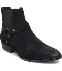 biabeack suede western shoes chelsea boots svart bianco