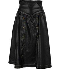 philosophy panelled flared skirt