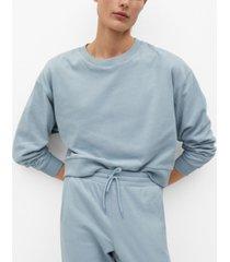 mango women's cotton sweatshirt