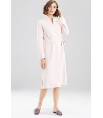 natori serenity cardigan robe, women's, deep garnet, size m natori