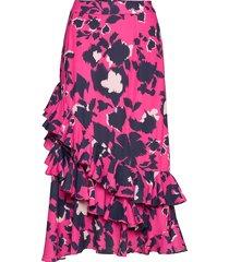 diamante skirt knälång kjol rosa by malina