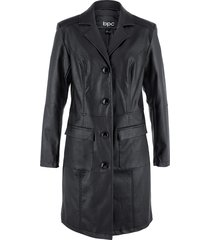 cappotto in similpelle sciancrato con collo a revers (nero) - bpc bonprix collection