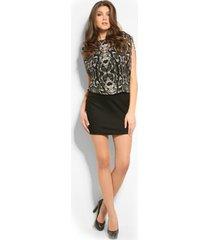 janita dress - guess - jurken - zwart