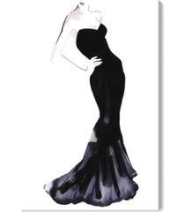 "oliver gal black dress - gill bay canvas art, 16"" x 24"""