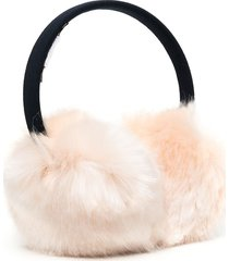 hucklebones london faux fur earmuffs - pink
