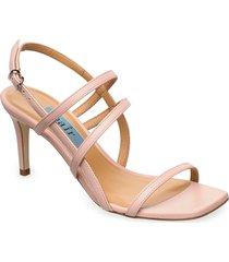 square string sandal sandal med klack rosa apair