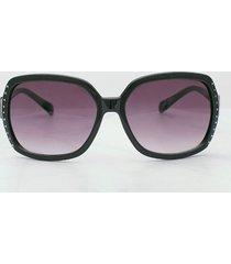gafas de sol over size rectangulares con cristales. negro uni