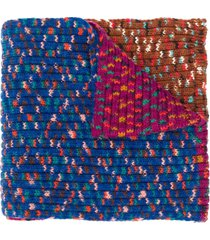 m missoni chunky knit scarf - purple