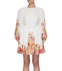 'mae' floral print mini dress