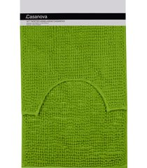 jogo de tapetes para banheiro popcorn 40x60cm verde