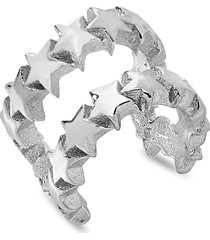sterling forever women's sterling silver multi-star ear cuffs