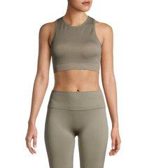 max studio women's seamless sport-comfort bra - silver sage - size m