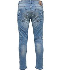 skinny jeans gestreepte