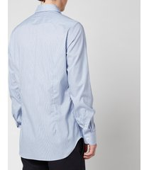 canali men's micro cotton slim fit shirt - mid blue - it 41/l