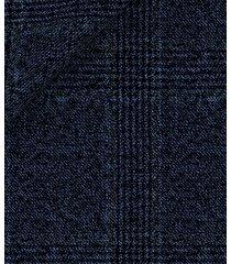 pantaloni da uomo su misura, vitale barberis canonico, principe di galles deciso mouliné blu, autunno inverno | lanieri