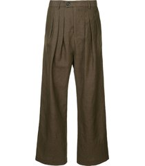 strateas carlucci baggy pleat pants - brown