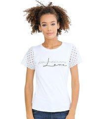 camiseta con mangas en letin unipunto 32343