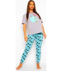valentijns koekiemonster pyjama set, blue