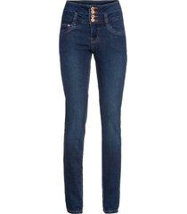 jeans a vita alta (blu) - rainbow