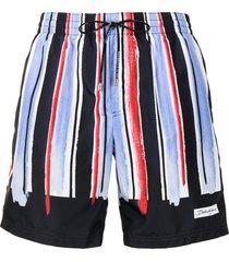 dolce & gabbana vertical-stripe pattern swim shorts - multicolour