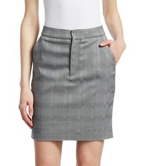 plaid push-up skirt