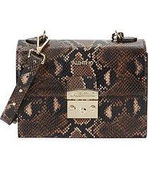etienne python-print leather crossbody bag