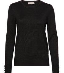 pullover-knit light stickad tröja svart brandtex
