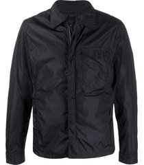 hevo zipped multi-pocket shirt jacket - black