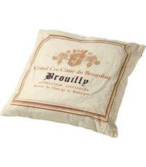 almofada de tecido de linho com enchimento brouilly