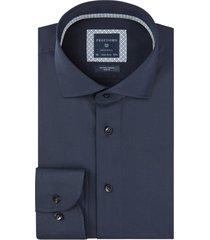 donkerblauw overhemd profuomo slim fit