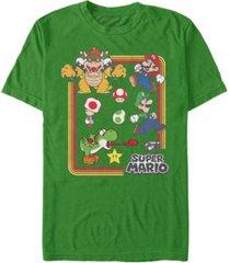 nintendo men's super mario retro group playing short sleeve t-shirt