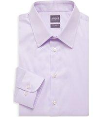 armani collezioni men's modern-fit dress shirt - purple - size 15 38