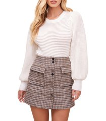 women's astr the label alice sweater, size large - ivory