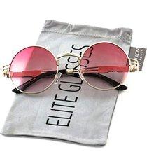 elite john lennon round sunglasses steampunk metal spring frame groovy lens colo