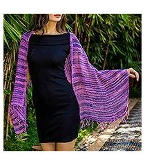 cotton scarf, 'spring melange' (thailand)