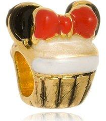 berloque boca santa semijoias cup cake minnie ouro amarelo