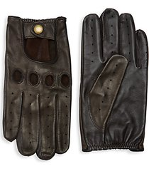 perforated leather driver gloves