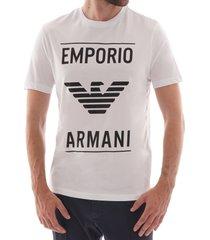 emporio armani box logo t-shirt - white 6g1te9