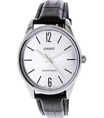 reloj casio mtpv005l_7b negro cuero hombre