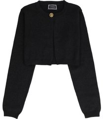 young versace embellished button cardigan