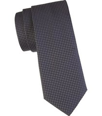 canali men's textured silk tie - black
