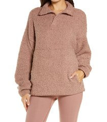 women's skims cozy knit pullover, size large/x-large - pink