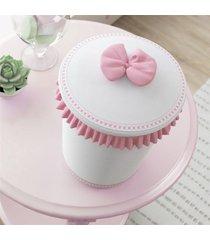 lixeira bebe menina branco/rosa alice grão de gente rosa